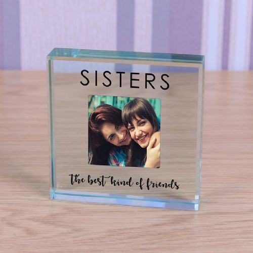Photo Glass Token - Sisters